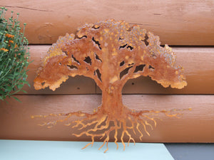 Eternal Tree of Life Wall Art Third Shift Fabrication Vintage Copper