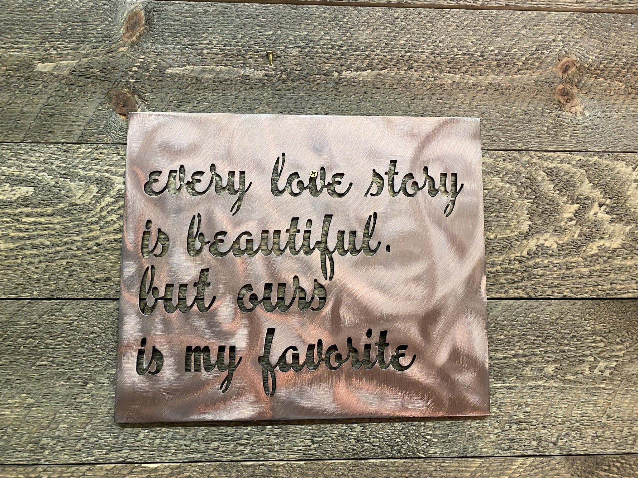 Every Love Story Wall Art Third Shift Fabrication Classic Copper