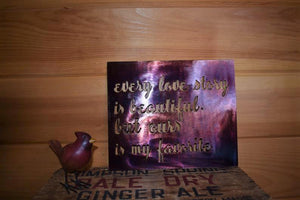 Every Love Story Wall Art Third Shift Fabrication Scarlet Sunset