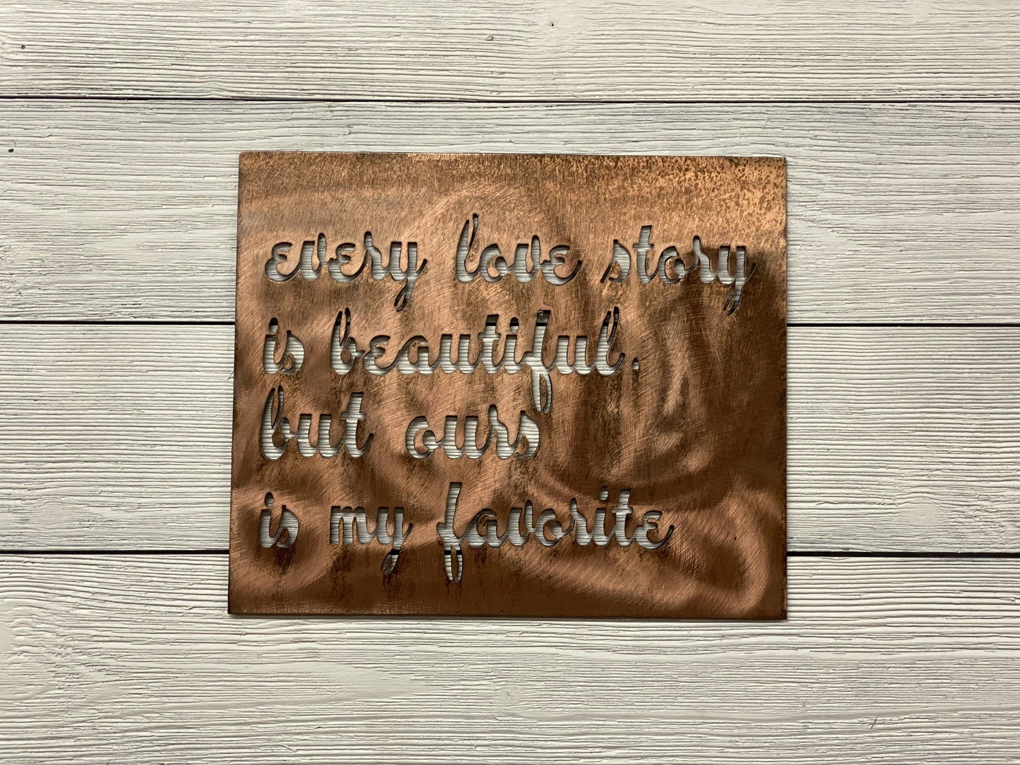 Every Love Story Wall Art Third Shift Fabrication Vintage Copper