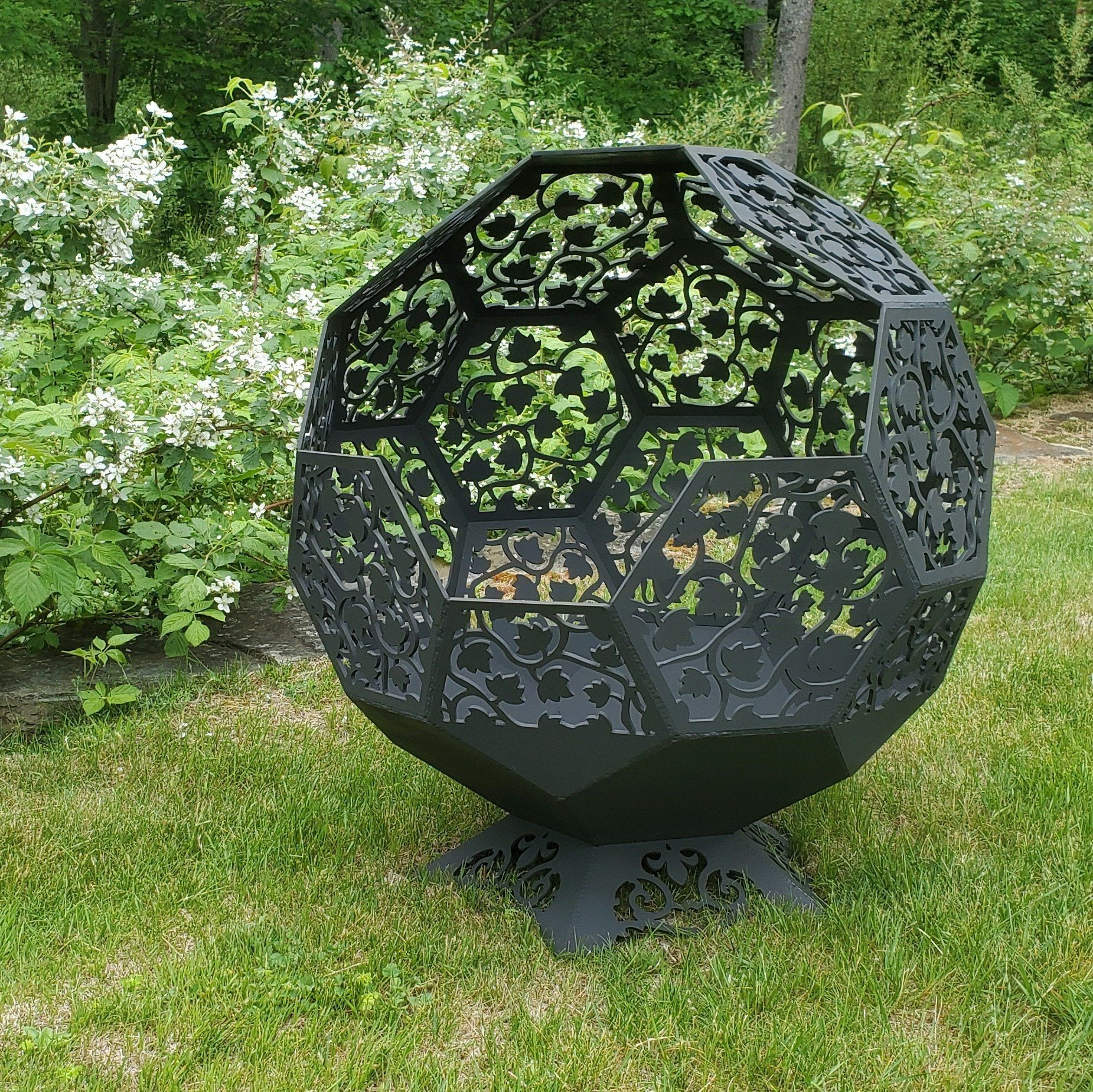 Fire Pit - Steel Sphere Fire Pit Third Shift Fabrication