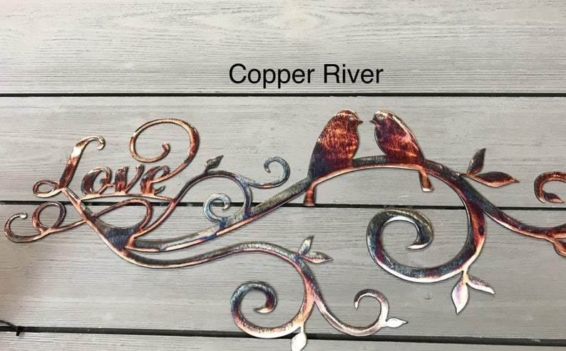 Lovebirds Wall Art Third Shift Fabrication Copper River