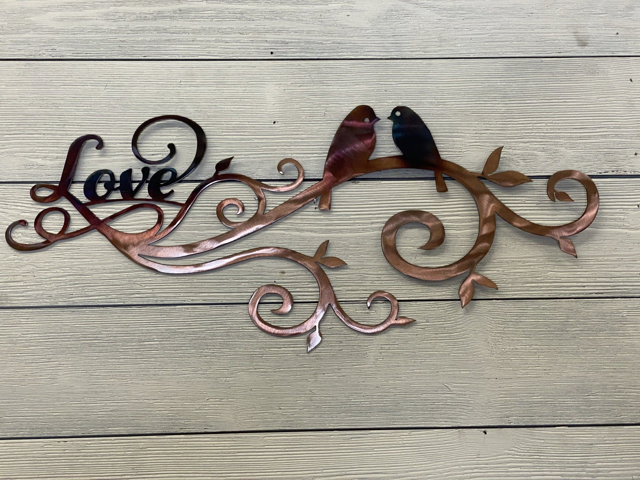 Lovebirds Wall Art Third Shift Fabrication Copper Torch