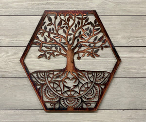 Mandala Tree of Life Wall Art Third Shift Fabrication 15"