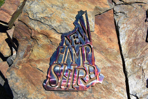 New Hampshire State Pride Wall Art Wall Art Third Shift Fabrication Copper River