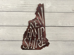 New Hampshire State Pride Wall Art Wall Art Third Shift Fabrication Scarlet Sunset