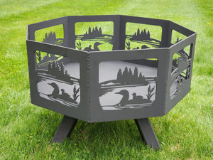 Octagon Fire Pit Fire Pit Third Shift Fabrication Loon & Lake