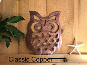 Owl 1 Wall Art Third Shift Fabrication Classic Copper