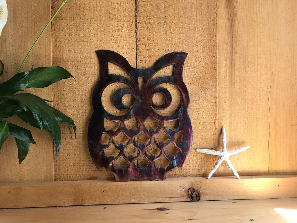 Owl 1 Wall Art Third Shift Fabrication Copper River