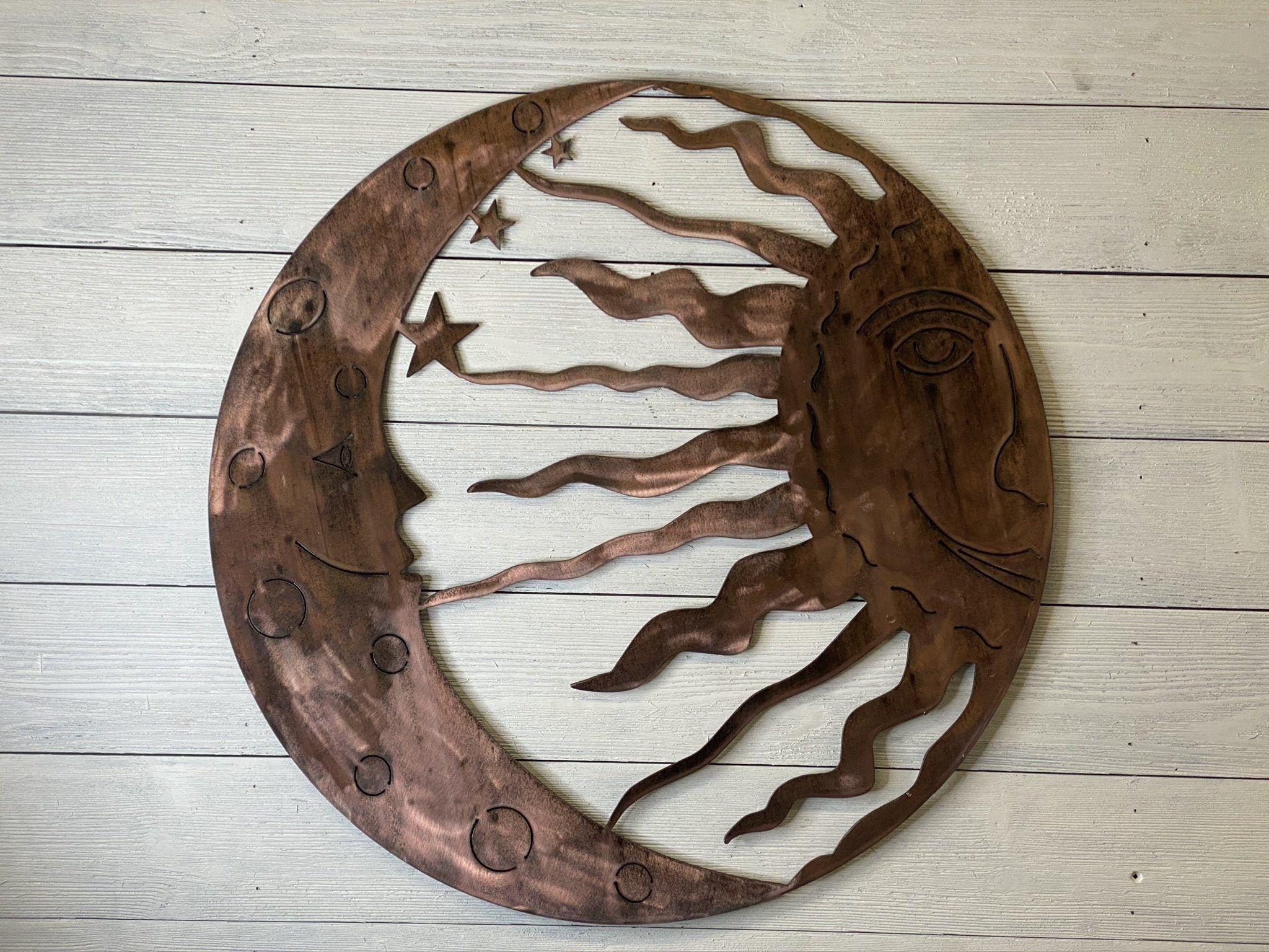 Sun and Moon Wall Art Third Shift Fabrication 24"