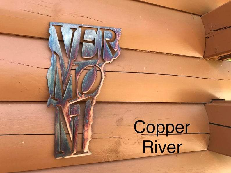 Vermont State Pride Wall Art Wall Art Third Shift Fabrication Copper River