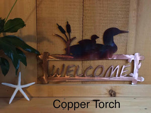 Welcome Sign - Loon - Personalized Wall Art Third Shift Fabrication