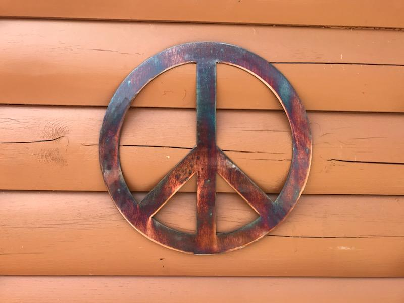 Woodstock Peace Sign Wall Art Third Shift Fabrication 15 inch | $75.00 Copper River