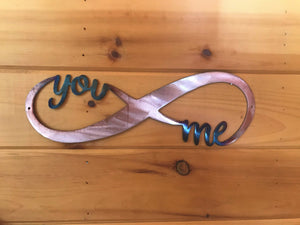 You and Me Infinity Wall Art Third Shift Fabrication Copper Torch
