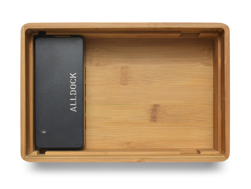 ALLDOCK Medium Bambus mittelgroß  with charger