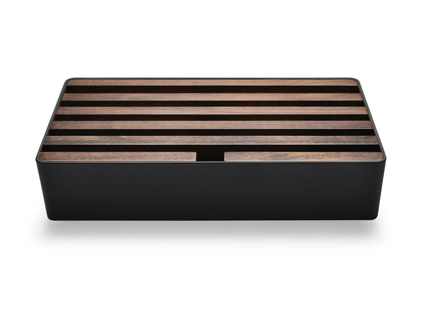 ALLDOCK Large Schwarz / Walnuss Black walnut groß