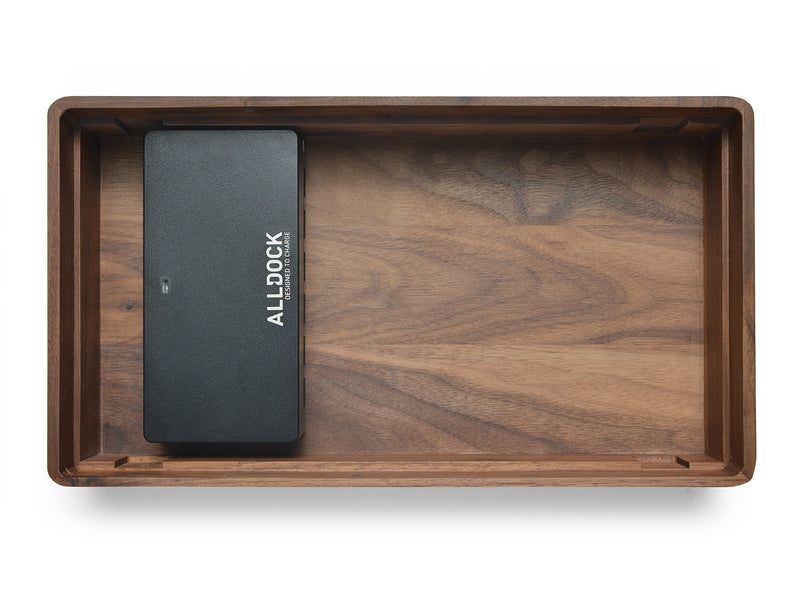 ALLDOCK Large Walnuss / Schwarz walnut black groß with charger