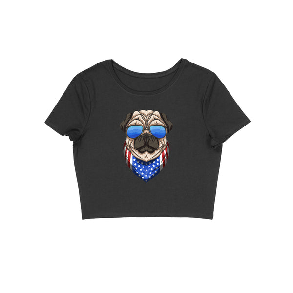 Cool Pug Crop Top