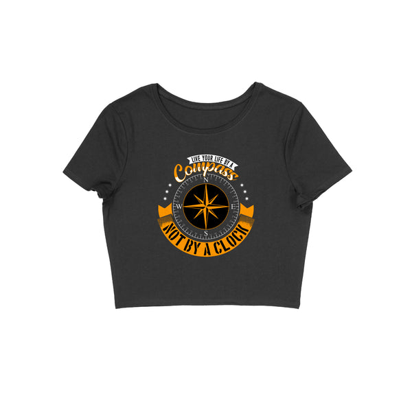 Compass Design Crop Top