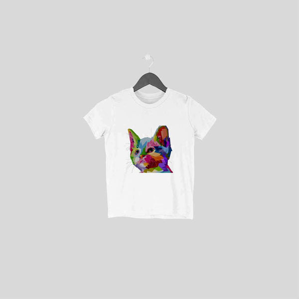 Multi Color Cat T-Shirt - TSS00015