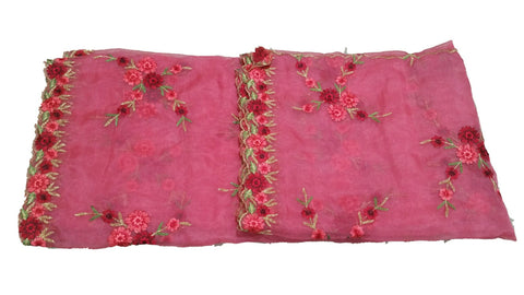 Embroidered Organza Dupatta - D00001