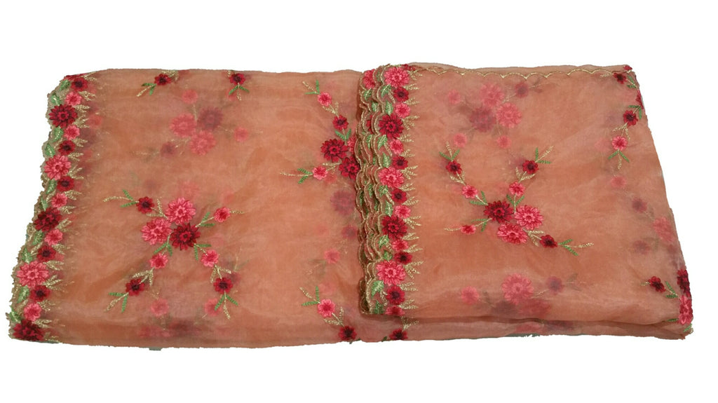 Embroidered Organza Dupatta  - D00003
