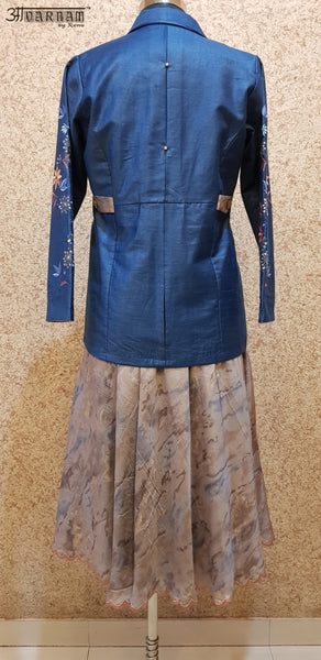 Aavarnam By Renu - Flared Dress With Embroidered Jacket - D00026