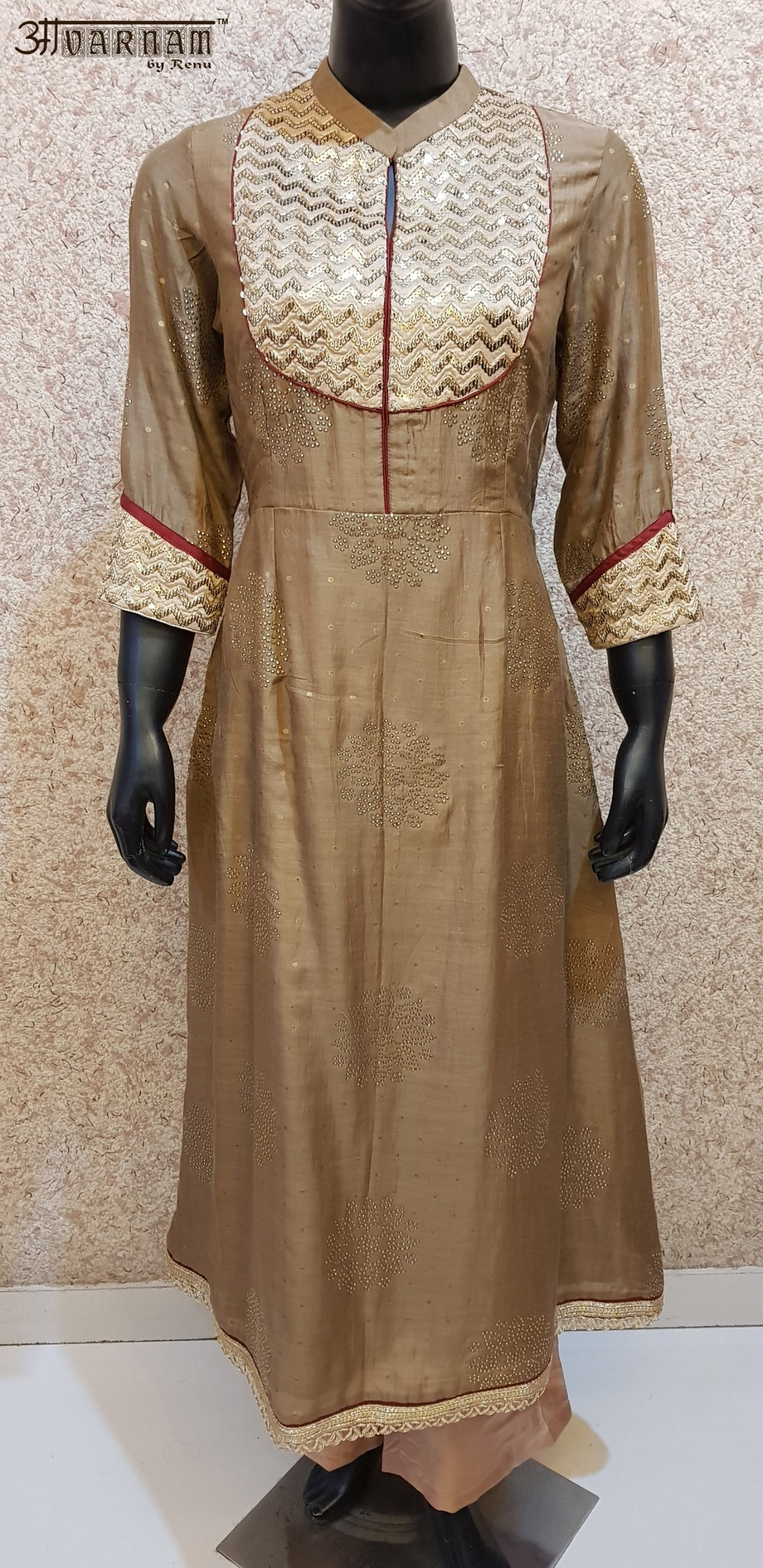Aavarnam By Renu - Embroidered Shirt With Pallazo - 2833D00033