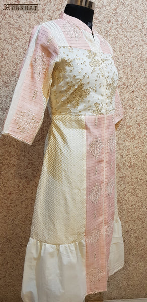 Aavarnam By Renu - Embroidered Cotton Dress - 2010D00042