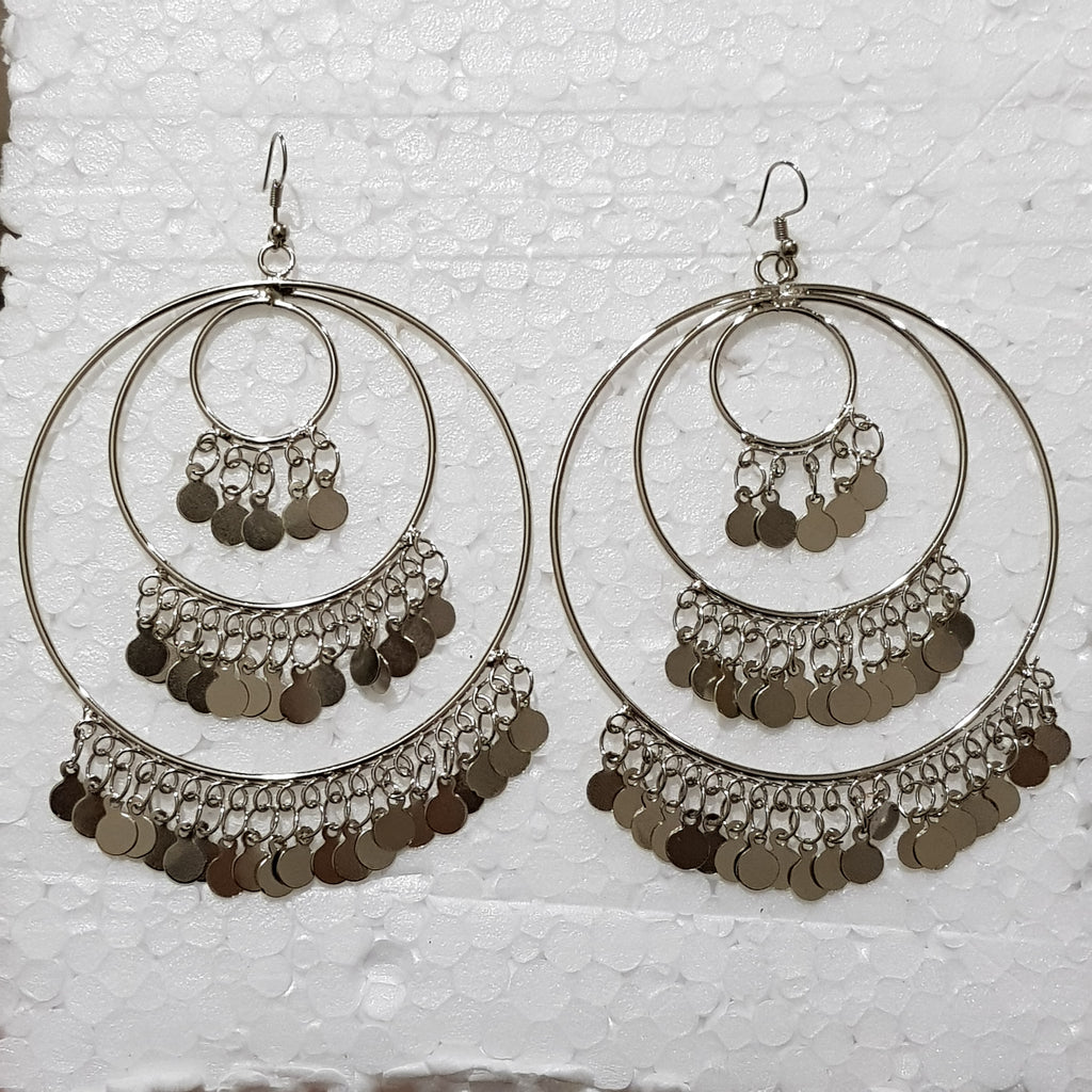 Silver Big Hoop Earrings - E00017