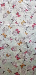 Embroidered Dupion Silk Fabric - F00119