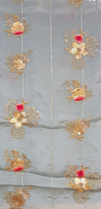 Embroidered Chinon Fabric - F00125