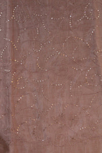 Embroidered Chinon Fabric - F00127