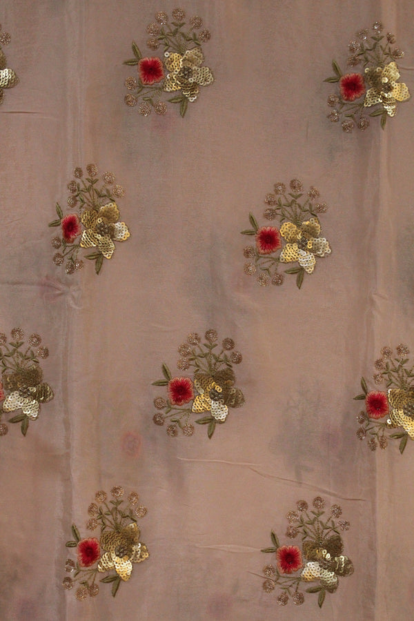 Embroidered Chinon Fabric - F00136