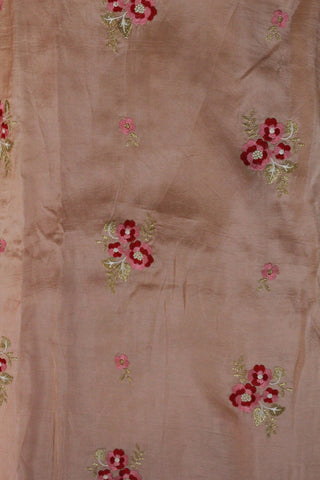 Embroidered Opara Silk Fabric - F00137