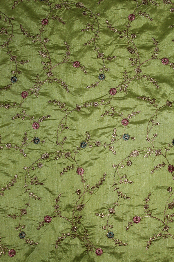 Embroidered Silk Fabric - F00139