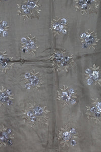 Embroidered Opara Silk Fabric - F00141