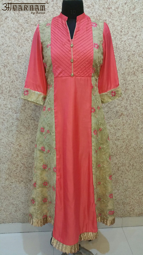 Aavarnam By Renu - Multi Colored Embroidered Dress - K00499