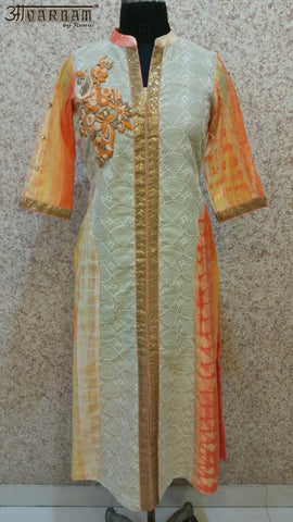 Aavarnam By Renu - Multi Colored Embroidered Shirt - K00500