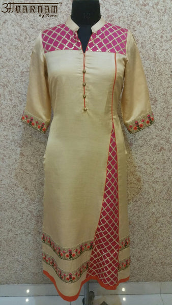 Aavarnam By Renu - Multi Colored Embroidered Shirt - K00507