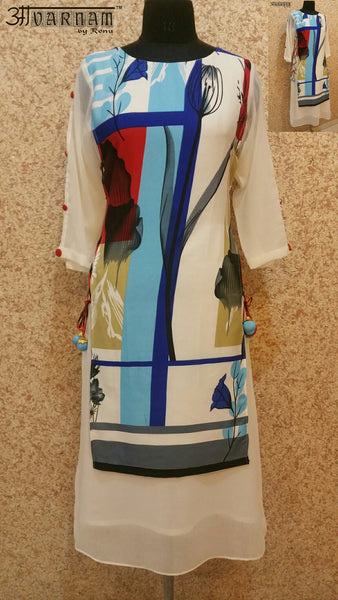 Aavarnam By Renu - Multi Color Long Kurti - EGVRK00533