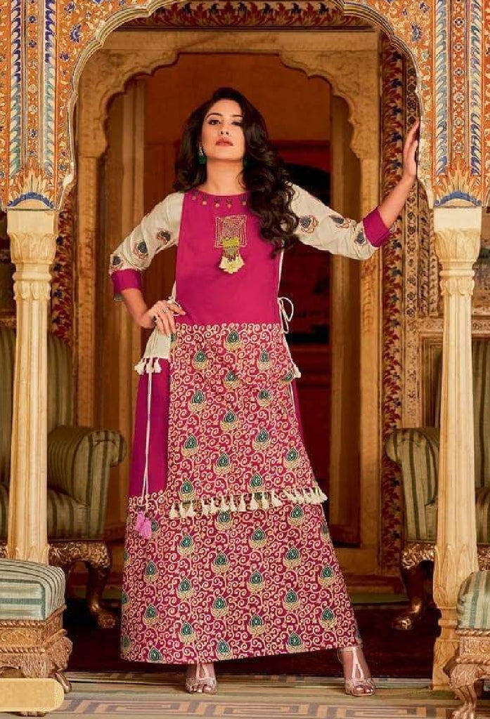 Soft Cotton Embroidered Flared Dress - R00145