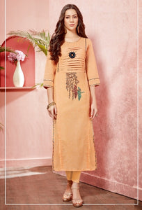 Embroidered Cotton Kurti - R00156