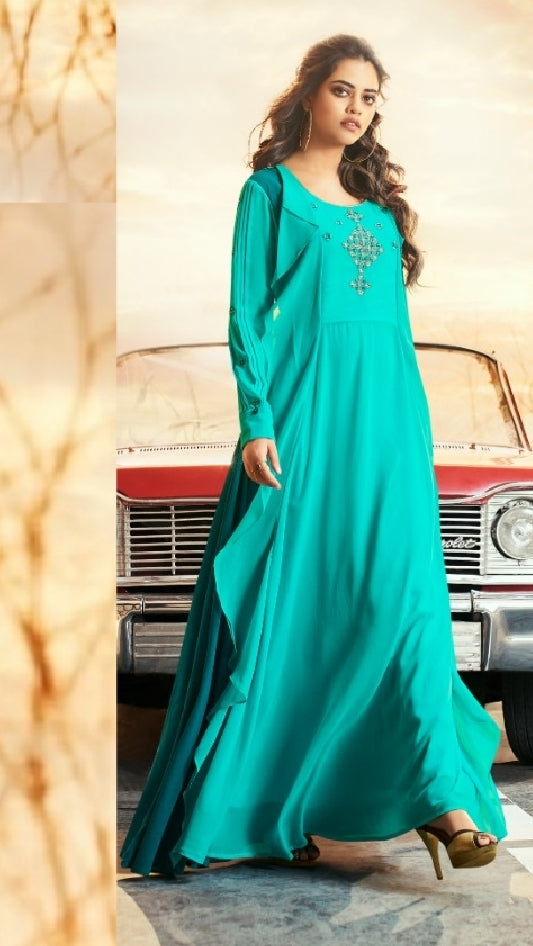 Embroidered Party Wear Dress - R00169