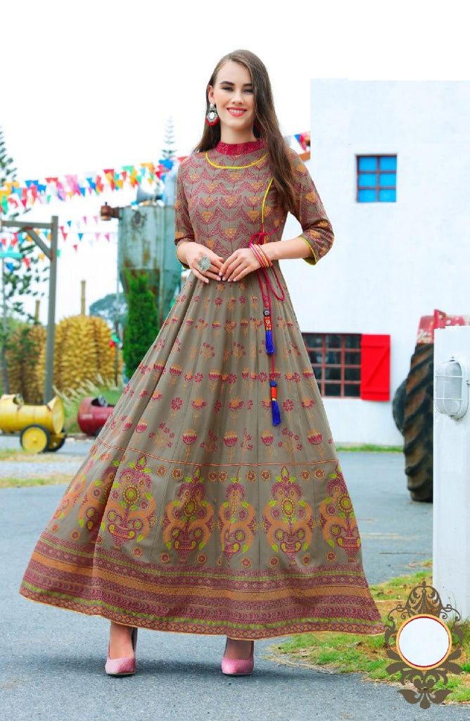Flared Kalidar Reyon Cotton Dress - R00194