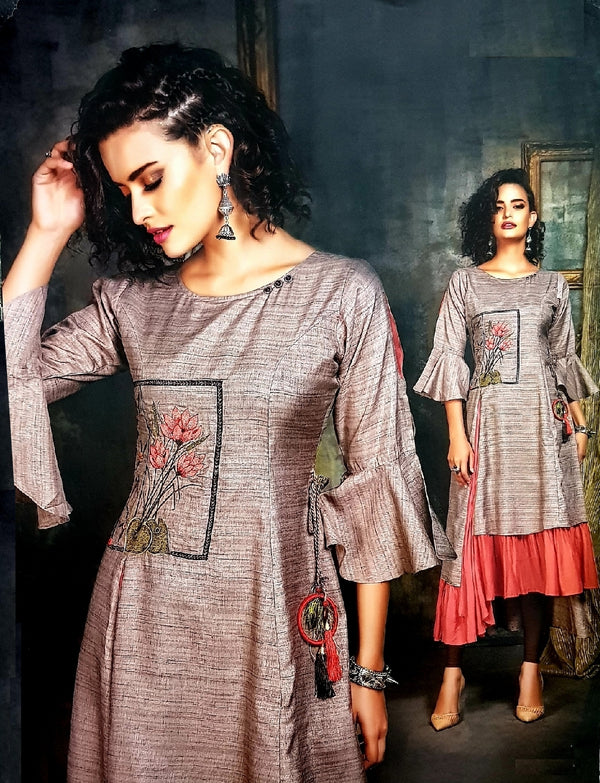Embroidered Trendy and Stylish Kurti - R00294