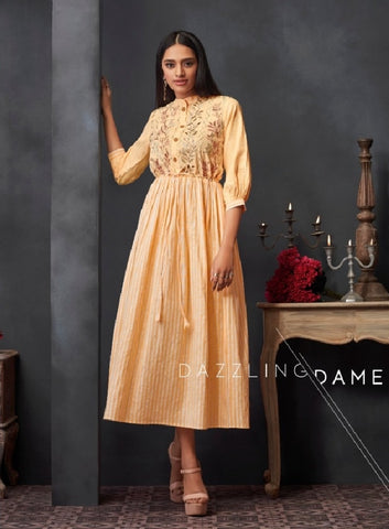 Embroidered Dress Style Kurti - R00303