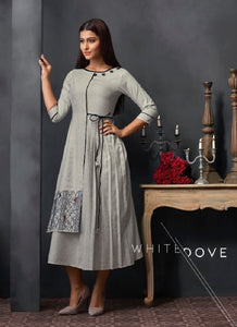 Embroidered Dress Style Kurti - R00305