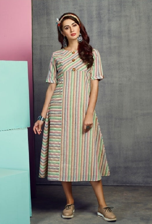 Stripes Cotton Kurti - R00336