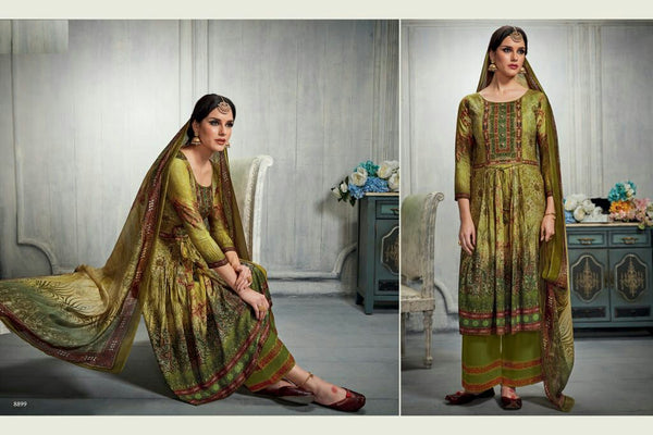 Cotton Printed Un - Stitch Suit - 3240898256/S00040